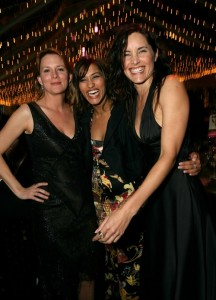 "WEST HOLLYWOOD, CA - FEBRUARY 25:  (L-R) Actresses Laurel Holloman, Janina Gauankar and Rachel Shelley attend ""The Envelope Please"" Oscar Viewing Party held at The Abbey on March 5, 2006 in West Hollywood, California.  (Photo by Michael Buckner/Getty Images)"