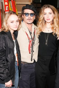 Lili Rose Depp Johnny Depp Amber Heard