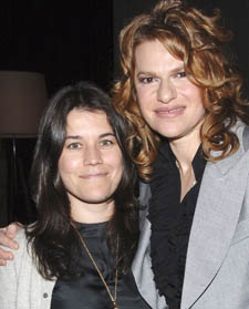 "NEW YORK - MAY 2:  Vanity Fair's Sara Switzer poses with actor and comedian Sandra Bernhard (R) during The Cinema Society and The Wall Street Journal after party for ""Away from Her"" at the Soho Grand Hotel on May 2, 2007 in New York City.  (Photo by Andrew H. Walker/Getty Images) *** Local Caption *** Sara Switzer;Sandra Bernhard"